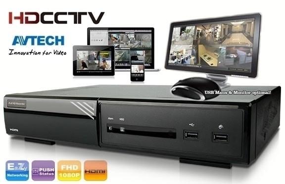 Paket CCTV Avtech DVR 4Ch HD 1TB