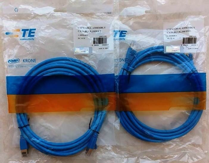 jual Patch Cord AMP Cat6 3M Blue